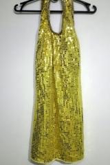 120a. Złota Sukienka Disco