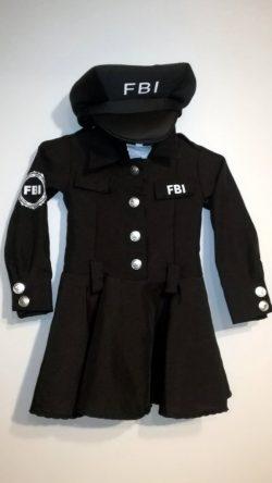 Strój FBI dla dziewczynki